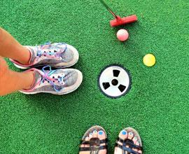 Minigolf sur herbe